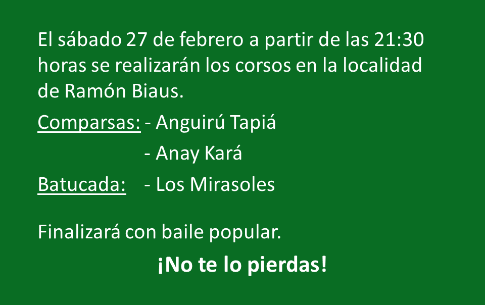 Corsos en Ramón Biaus