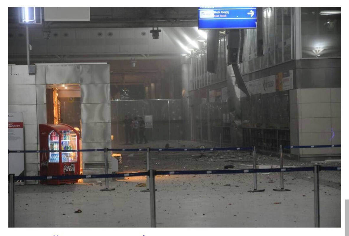 A view of the entrance of the Ataturk international airport after two suicide bombers opened fire before blowing themselves up at the entrance, in Istanbul, Turkey June 28, 2016. Courtesy of 140journo/via Reuters. ATTENTION EDITORS - THIS IMAGE WAS PROVIDED BY A THIRD PARTY. EDITORIAL USE ONLY. NO RESALES. NO ARCHIVE. TPX IMAGES OF THE DAY