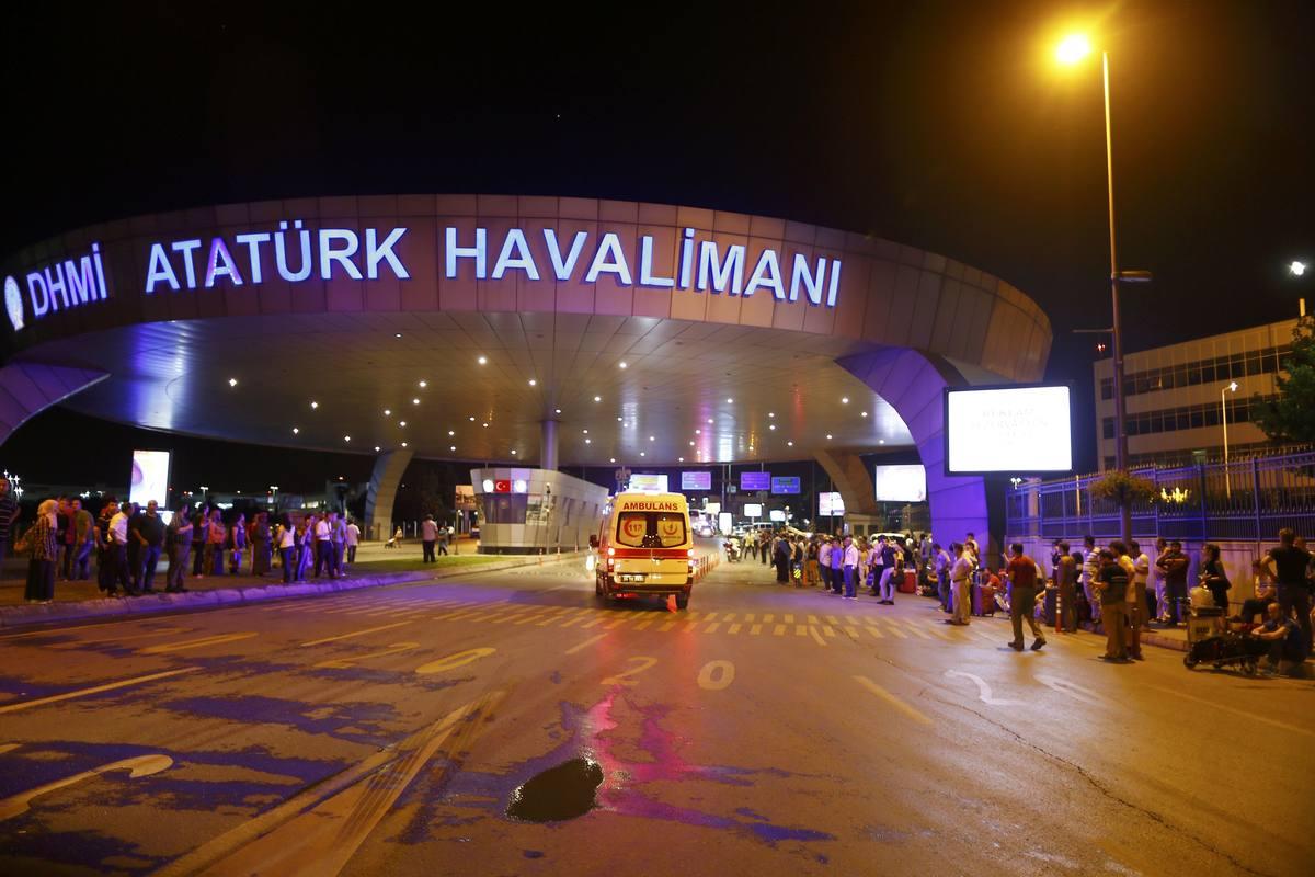 Ambulance cars arrive at Turkey's largest airport, Istanbul Ataturk, Turkey, following a blast June 28, 2016. REUTERS/Osman Orsal