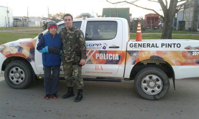 policia revivió a una  mujer  gral pinto