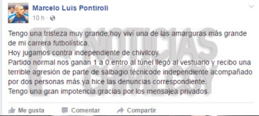 pontiroli-facebook-agresion-sportman-de-carmen-de-areco-chivilcoy-independiente